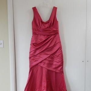 pink DAVIDS BRIDAL 85060 dress bridesmaid 14